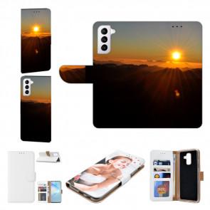Samsung Galaxy S21 Plus Handyhülle mit Bilddruck Sonnenaufgang
