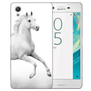 Silikon TPU Hülle mit Pferd Fotodruck Motiv Schutzhülle für Sony Xperia X