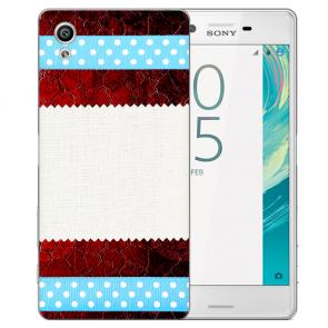 Schutz Hülle Handy Cover mit Muster Fotodruck für Sony Xperia X