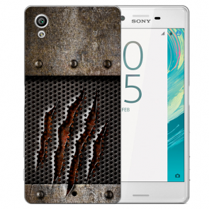 Silikon TPU Hülle mit Foto Druck Monster-Kralle für Sony Xperia XA Etui