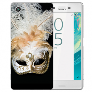Sony Xperia XA Ultra Silikon Hülle mit Fotodruck Venedig Maske Case