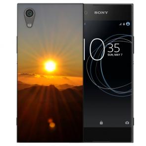 Sony Xperia L1 Silikon TPU Handy Hülle mit Bild Druck Sonnenaufgang