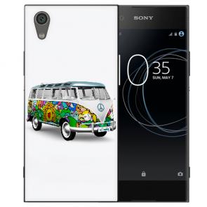 Sony Xperia L1 Silikon TPU Handy Hülle mit Bild Druck Hippie Bus