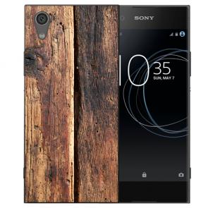 Silikon TPU Handy Hülle mit Bild Druck HolzOptik für Sony Xperia L1