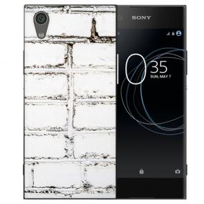 Silikon TPU Handy Hülle für Sony Xperia L1 mit Weiße Mauer Bild Druck