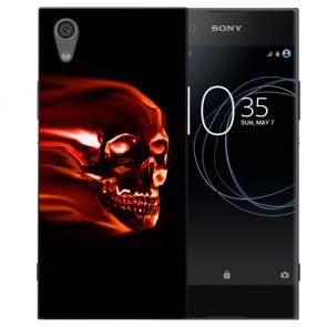 Silikon TPU für Sony Xperia L1 Handy Hülle mit Bild Druck Totenschädel