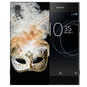 Sony Xperia L1 Silikon TPU Handy Hülle mit Venedig Maske Bild Druck