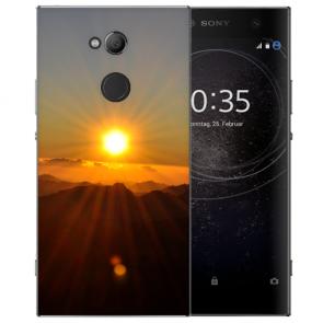 Handy Hülle Silikon TPU mit Fotodruck Sonnenaufgang für Sony Xperia L2