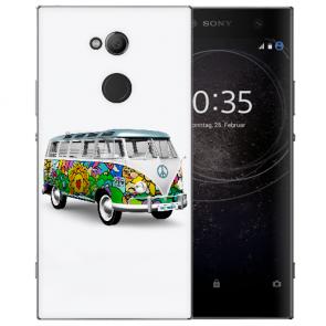 Silikon TPU Hülle mit Bilddruck Hippie Bus für Sony Xperia XA2 Ultra
