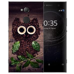 Sony Xperia XA2 Ultra Silikon TPU Hülle mit Kaffee Eule Bilddruck Etui