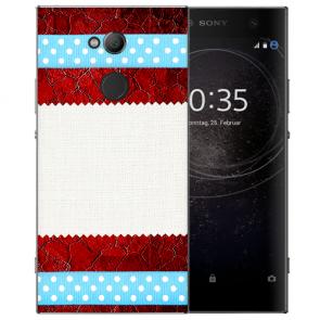 Sony Xperia XA2 Ultra Silikon TPU Hülle mit Muster Fotodruck Etui