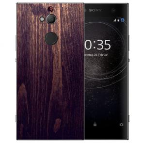 Sony Xperia XA2 Ultra TPU Hülle mit HolzOptik Dunkelbraun Fotodruck