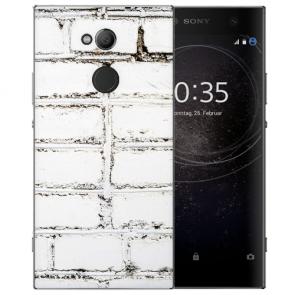 Sony Xperia XA2 Ultra Silikon TPU Hülle mit Weiße Mauer Fotodruck