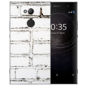 Sony Xperia L2 Handy Hülle TPU mit Fotodruck Weiße Mauer Etui