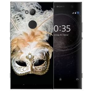 Sony Xperia XA2 Ultra Silikon TPU Hülle mit Bilddruck Venedig Maske