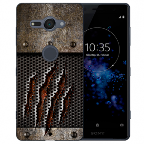 Sony Xperia XZ2 Compact Silikon TPU Hülle mit Monster-Kralle Fotodruck
