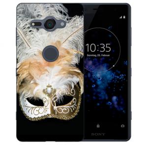 Sony Xperia XZ2 Compact Silikon TPU Hülle mit Fotodruck Venedig Maske