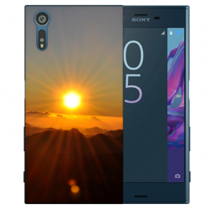 Silikon TPU Handy Hülle mit Sonnenaufgang Fotodruck für Sony Xperia XZS