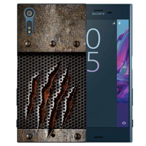 Silikon TPU Handy Hülle mit Monster-Kralle Fotodruck für Sony Xperia XZS