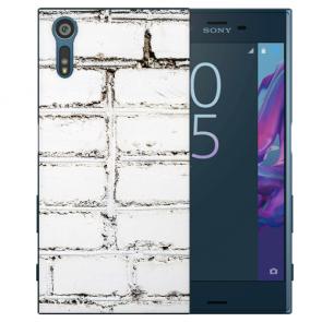 Sony Xperia XZS Silikon TPU Handy Hülle mit Fotodruck Weiße Mauer
