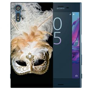 TPU Handy Hülle mit Venedig Maske Fotodruck für Sony Xperia XZS