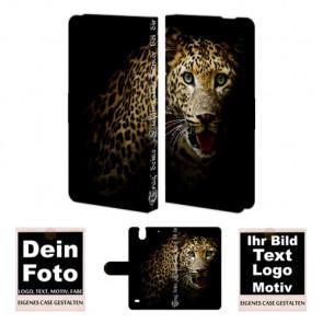 Ledertasche für Sony Xperia C4 mit Foto und Text zum selbst gestalten