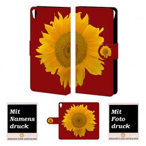 Personalisierte Handyhülle für Sony Xperia E5 mit Bilddruck Sonnenblumen