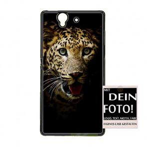 2D Hülle für Sony Xperia Z L36H Hard Case mit Foto und Text zum selbst gestalten.