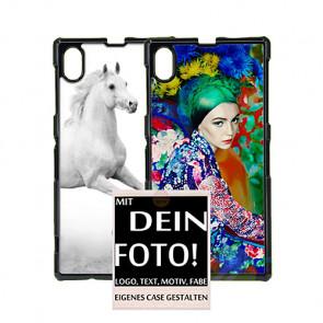 2D Hülle für Sony Xperia Z1 L39h Hard Case mit Foto und Text zum selbst gestalten.