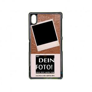2D Hülle für Sony Xperia Z2 Hard Case mit Foto und Text zum selbst gestalten.