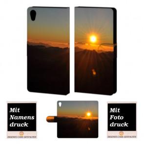 Sony Xperia Z4 Handy Tasche Hülle mit Bild Druck Sonnenaufgang