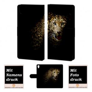 Personalisierte Handyhülle mit Leopard Fotodruck für Sony Xperia C6