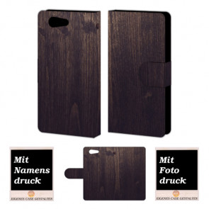 Sony Xperia Z4 Mini Holz Optik Handy Tasche Hülle Foto Bild Druck