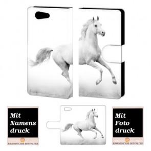 Sony Xperia Z4 Mini Pferd Handy Tasche Hülle Foto Bild Druck