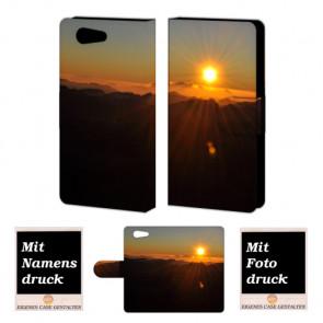 Sony Xperia Z4 Mini Sonnenaufgang Handy Tasche Hülle Foto Bild Druck