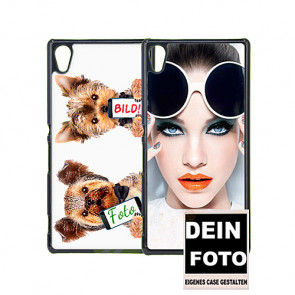 2D Hülle für Sony Xperia Z4 Hard Case mit Foto und Text zum selbst gestalten.