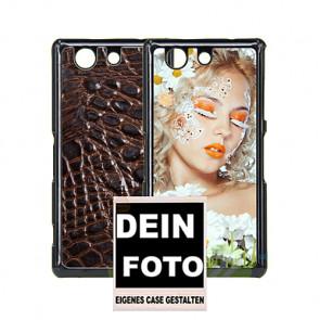 2D Hülle für Sony Xperia z4 mini Hard Case mit Foto und Text zum selbst gestalten.