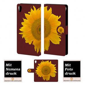 Sony Xperia Z5 Sonnenblumen Handy Tasche Hülle mit Bild Druck