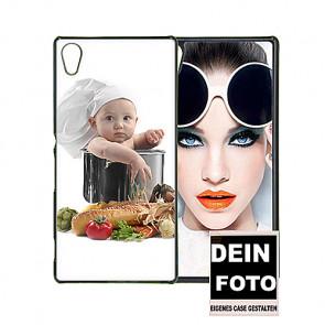 2D Hülle für Sony Xperia Z5 Hard Case mit Foto und Text zum selbst gestalten.