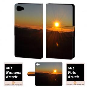 Sony Xperia Z5 Mini Handy Tasche Hülle mit Foto Druck Sonnenaufgang
