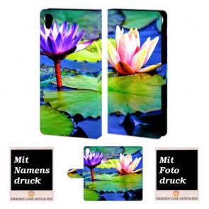 Individuelle Handyhülle für Sony Xperia Z5 mit Lotosblumen Fotodruck