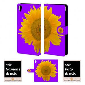 Sony Xperia Z5 Premium Handyhülle Tasche mit Bilddruck Sonnenblumen