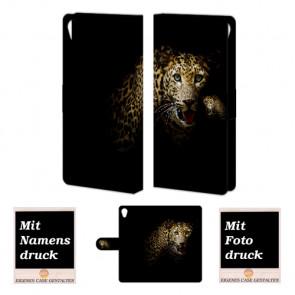 Sony Xperia Z5 Premium Tiger Handy Tasche Hülle Foto Bild Druck