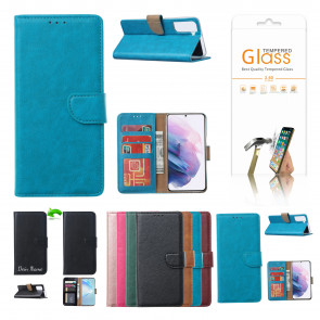 Schutzhülle für iPhone 11 Pro Max mit Displayschutz Glas Türkis