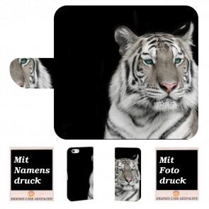 Personalisierte Handyhülle für iPhone 7 mit Tiger + Fotodruck Text