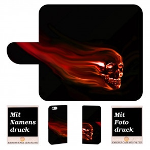 iPhone 6 / 6s Personalisierte Handyhülle mit Totenschädel + Bilddruck