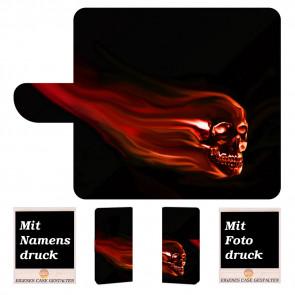 Motorola Maoto E5 Individuelle Handyhülle mit Totenschädel + Bilddruck