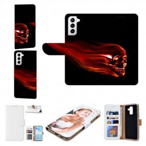 Samsung Galaxy S21 Plus Handyhülle mit Bilddruck Totenschädel