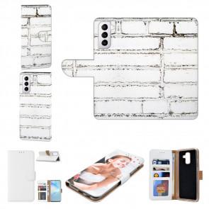 Samsung Galaxy S21 Plus Handy Hülle mit Bilddruck Weiße Mauer