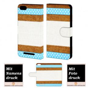 Wiko Lenny 3 Muster Handy Tasche Hülle Foto Bild Druck